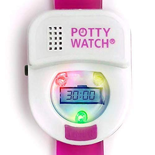 Potty Time: The Original Potty Watch | 2020 Model - Water Resistant | Toddler Toilet Training Aid, (Set Automatic Timers with Music for Gentle Reminders, Plays Songs & Flashing Lights), Pink