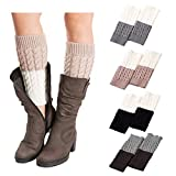 4Pairs Women's Short Leg Warmer Crochet Boot Cover