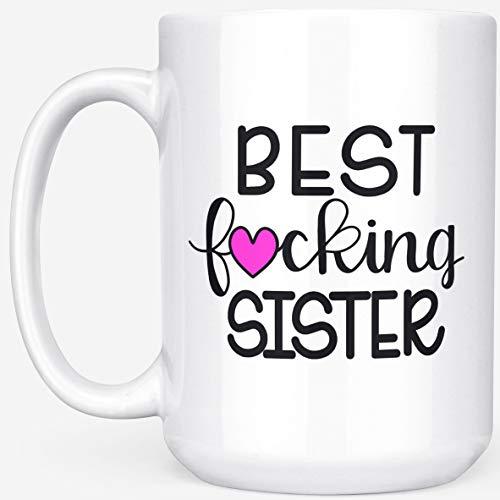 (Sister Birthday Gifts - Best F*cking Sister 15 oz. Coffee Mug by MaxAndMitchCo)
