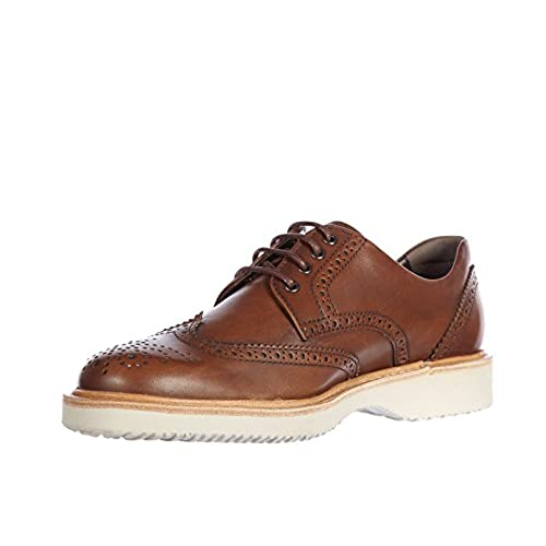 Hogan men's classic leather lace up laced formal shoes derby h 217 route  brown 60%