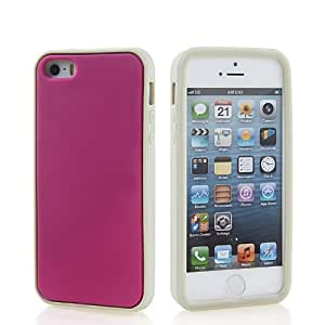 SHOPPINGBOX Carcasa de TPU Gel Funda Caso Tapa silicona Case Cover Para Apple iPhone 5 5G 5S Gris Rosa