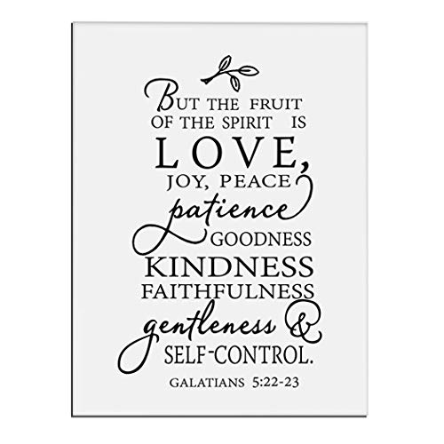 - WALKKING WAYS Christian Fruit of The Spirit Canvas Art Painting Prints Wall Art Love Joy Peace Picture Modern Artwork for Kitchen Office Wall Decor Home Decorations (Size 5: 32X47inch(80X120cm))