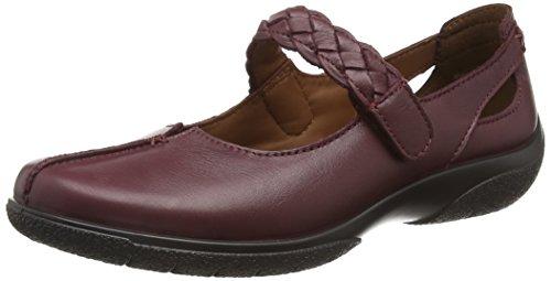 Hotter Shake, Zapatos Mary Jane para Mujer Rojo (Maroon)