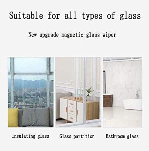 両面磁気窓クリーナーガラスクリーニングブラシガラスワイパー家庭用クリーニングツール、3フロア10〜40mm厚のガラス用