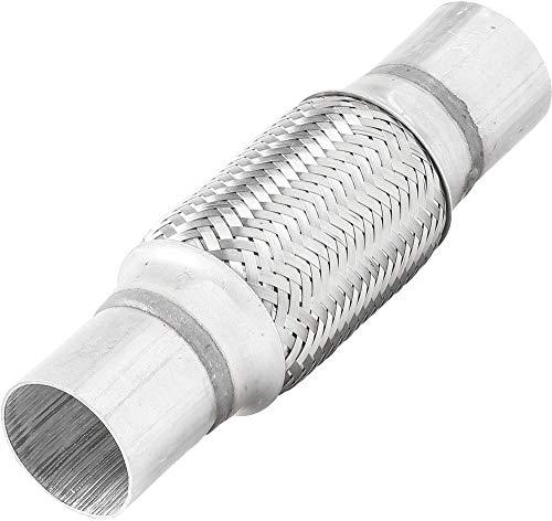 TOTALFLOW TF-N57150 Stainless Steel Double Braid Exhaust Flex Pipe-2.25
