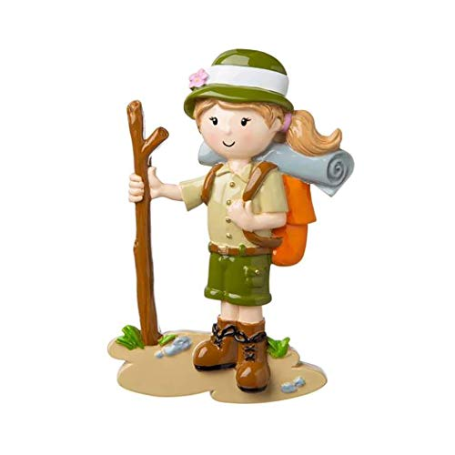 Personalized Girl Hiking with Walking Stick Christmas Tree Ornament 2019 - Nature Lover Active Trek Pole Group Outdoor Hobby Trail First Cliff Holiday Travel Friend Gift Year - Free Customization