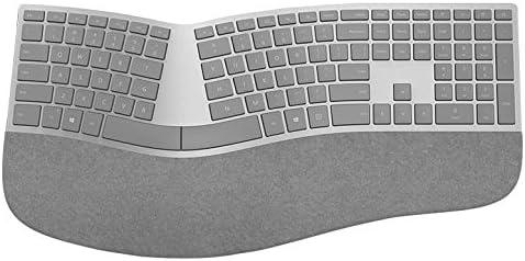 Microsoft Surface Ergonomic Bluetooth Gris Teclado – Teclados (Bluetooth, Universal, Inalámbrico, PC/Server, Estándar, Curvado)