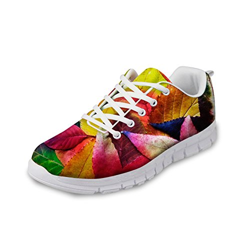 2 Shoes Colorful Mesh Men's U Running FOR Vintage Women's Walking Leaves Lightweight DESIGNS amp; x6OHATFwq