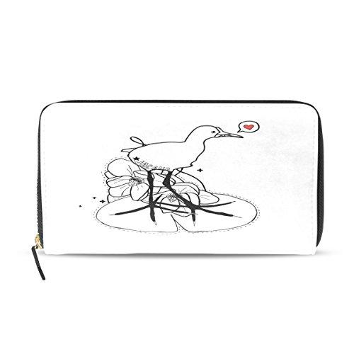 BYouLockX Women's Jacana Long Leather Card Zipper Wallet Purse Clutch -