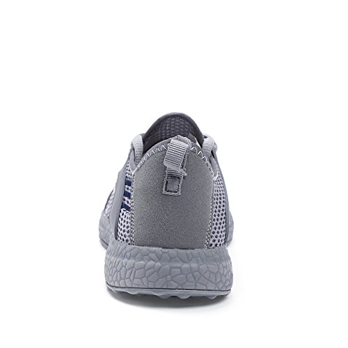 Feetmat Mens Mesh Running Shoes Breathable Lightweight Walking Shoes Sneakers Grey tcHp7H