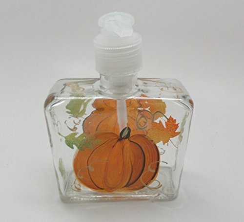 Fall Pumpkin and Leaves on Soap Dispenser by PrettyStrokes