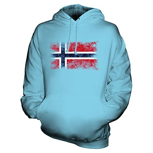 CandyMix Unisex Norway Distressed Flag Mens/Womens Hoodie