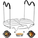 Steamer Rack Trivet with Heat Resistant Handles Compatible with Instant Pot Accessories 6 Qt 8 Quart, Pressure Cooker Trivet Wire Steam Rack, Great for Lifting out Whatever Delicious Meats & Veggies You Cook