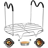 Cheap Steamer Rack Trivet with Heat Resistant Handles Compatible with Instant Pot Accessories 6 Qt 8 Quart, Pressure Cooker Trivet Wire Steam Rack, Great for Lifting out Whatever Delicious Meats & Veggies You Cook