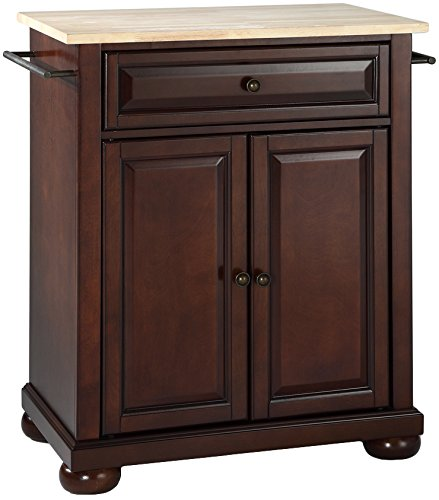 Crosley Furniture Alexandria Wood Top Kitchen Island In: Crosley Furniture Alexandria Cuisine Kitchen