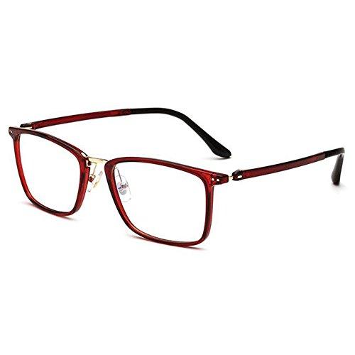 Deylaying Retro Glasses Spring Hinge Square Frame Clear Lens Glasses Women - Eyeglass Essentials Frames