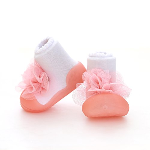 Attipas Big Toe Lightweight Baby Girls Boys First Walker Shoes Corsage (Pink, Medium - Fashion Urban 80's