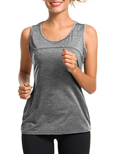Sport Tops for Women Fitness Athletic Yoga Tops Exercise Gym Shirts (Best Running Shirts For Hot Weather)