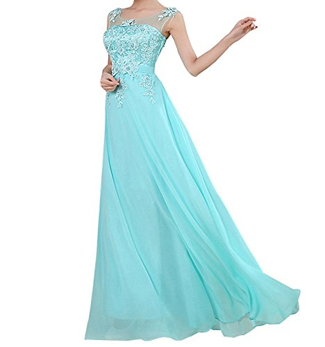CoutureBridal - Vestido - corte imperio - para mujer Azul
