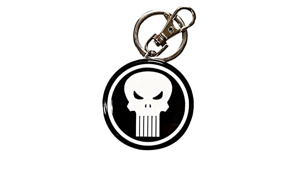 Amazon.com: Semic Marvel Comics Metal Keychain Punisher Logo ...