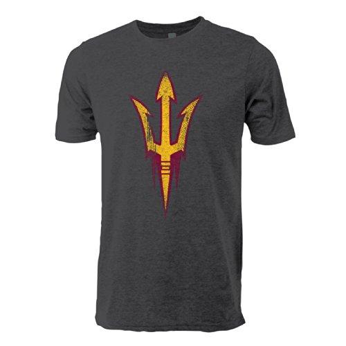 NCAA Arizona State Sun Devils Vintage Sheer Short Sleeve Tee, X-Large, Dark Heather