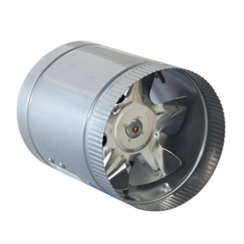 Homgrace 8 Inch 420 CFM Booster Fan Inline Duct Vent Blower Round Shape High CFM Cool Vent (8 inch)