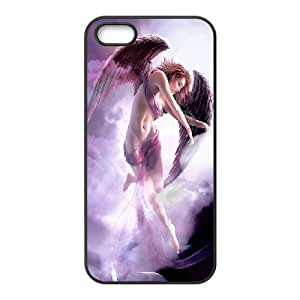 Fantasy Angel iPhone 5 5s Cell Phone Case Black Phone cover T7399297
