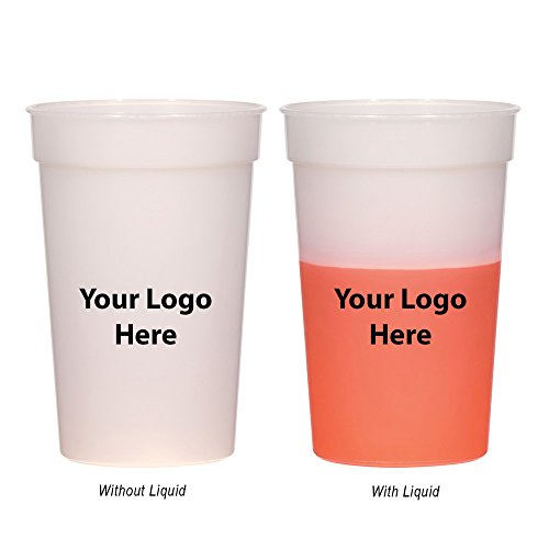 """Side Imprint Areas (17 Oz. Color Changing Stadium Cup - 100 Quantity - 0.95 Each - PROMOTIONAL PRODUCT/BULK with YOUR LOGO/CUSTOMIZED. Size: 5"""" H.)"""