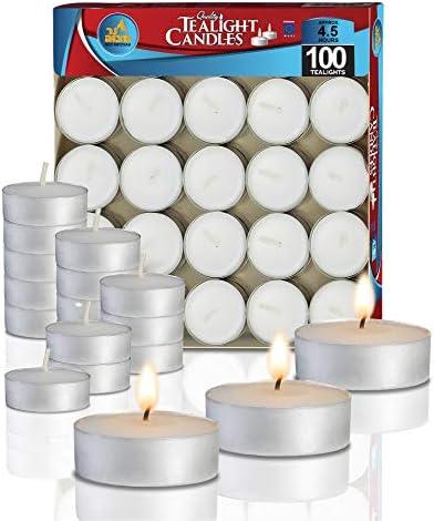 Tea Lights 2.5 Hour  Burn Night Light Candles Unscented Tealights