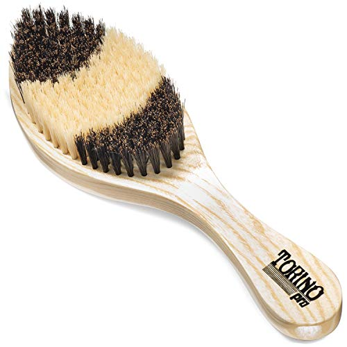 (Torino Pro Soft Curve Brush By Brush King - #1650 - Patented Duet Collection- Different color on each side - Great for wolfing and Connections - Curved brush for 360 Waves)