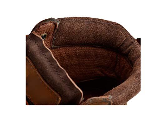 Pelle Nastro Sport Tondo Inverno da A Colori Brown Punta Autunno A Estate Uomo Primavera Casual Scarpe da Uomo in Casual 1Pttaq