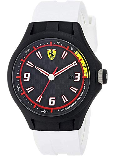 Ferrari Men's 0830004 Analog Display Japanese Quartz White Watch