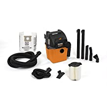 RIDGID Wet Dry Vacs VAC5000 Portable Wall Mount Wet Dry Vacuum Cleaner for Shop or Garage, 19 L (5 Gallon), 5.0 Peak Horsepower, Small Shop Vacuum Cleaner for Garage or Home
