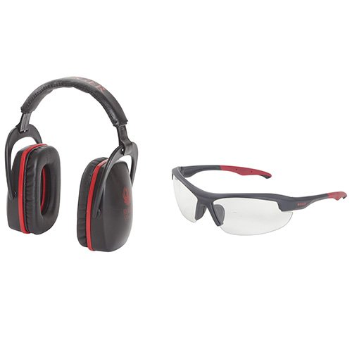 Allen Company 27865 Ruger Conix Ballistic Muff & Glasses Combo, Black/Red