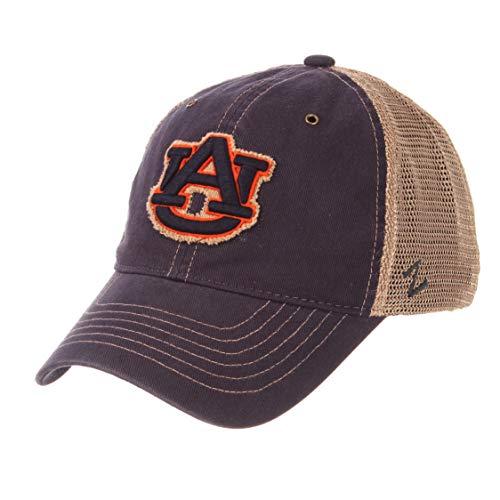 Zephyr NCAA Auburn Tigers Men's Tatter Relaxed Cap, Adjustable, Navy