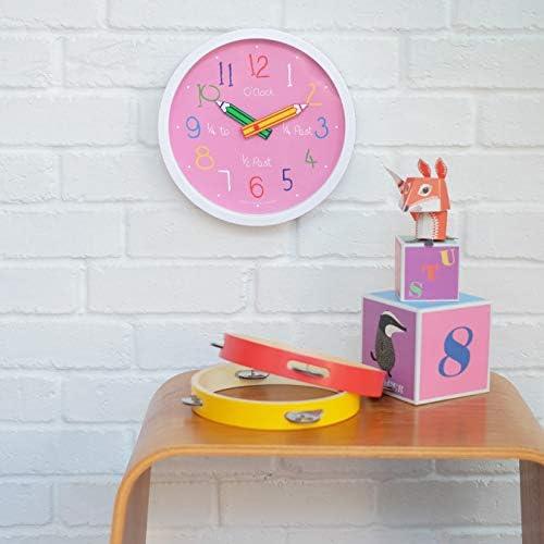 Rose 24153 Horloge Murale pour Enfants London Clock Co Diam/ètre 26cm