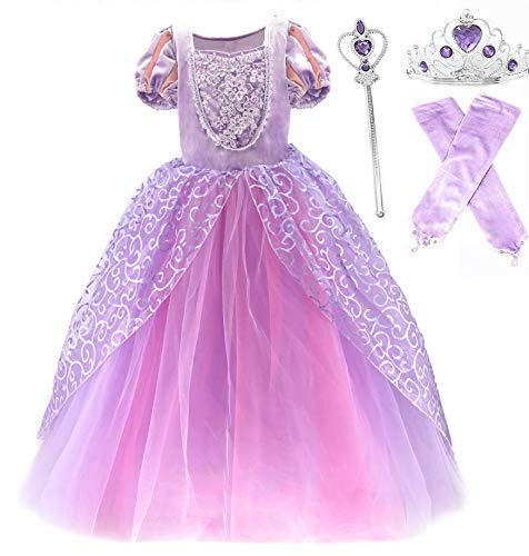 Romy's Collection Princess Rapunzel Special Edition Purple Party Deluxe Costume Dress-Up Set (Purple, 2-3)