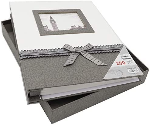 Zzkoko Photo Album 5x7 Wedding Photo Albums Holds 200 Horizontal 5by7 Photos 2 Per Page Family Album Gift For Mother Father Valentines Day Present Grey Buy Online At Best Price In Uae