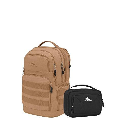 High Sierra Rownan Backpack & Lunchbox Set (Tan Canvas/Black)