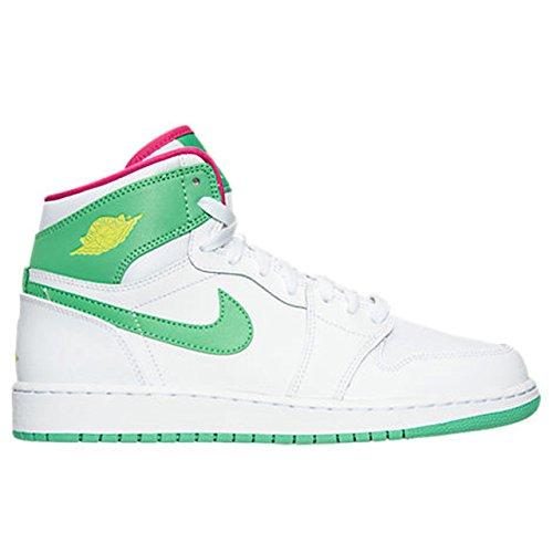 Jordan Big Kids Air Jordan 1 Retro High GS (white/vivid pink) Size 8