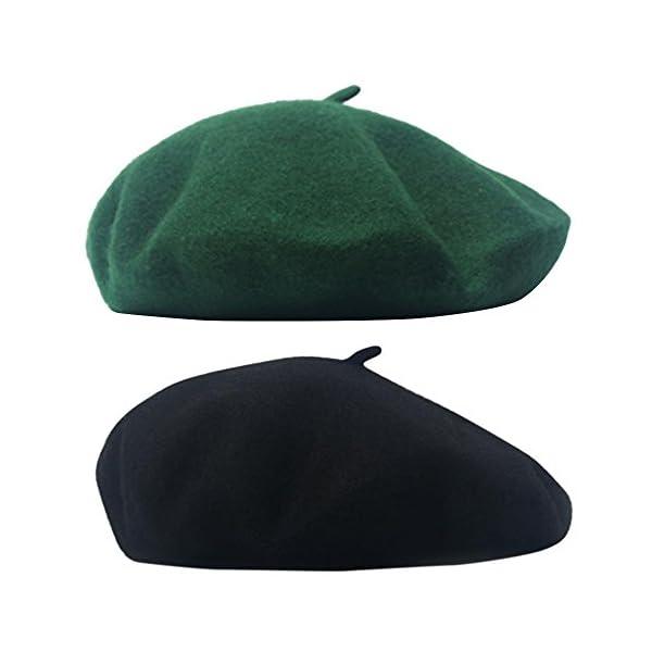 MaiTaiTai Women's Berets Cap Wool Hat Ladies Beret Warm Winter Fall Elegant French Painter Cap