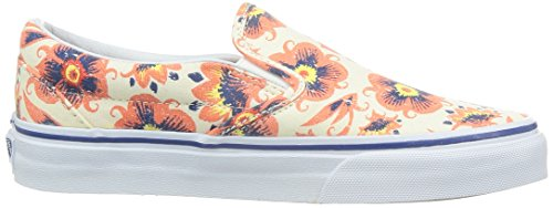 Weiß Orange Vans Sneakers Unisex Erwachsene Classic on U Slip 18Wq01g