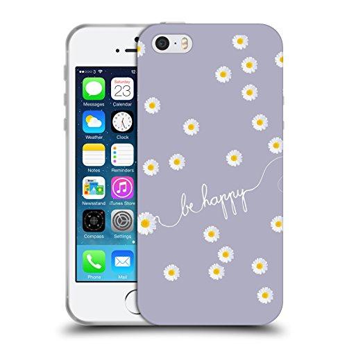 Officiel Monika Strigel Lavande Pâquerette Heureuse Étui Coque en Gel molle pour Apple iPhone 5 / 5s / SE