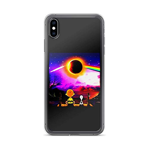 iPhone Xs Max Pure Clear Case Cover Charlie and Snoopy Watching Solar Eclipse ()
