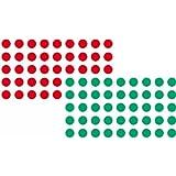 Franken UMZ P19/12 Pastilles autocollantes 19 mm Rouge/vert Lot de 1000