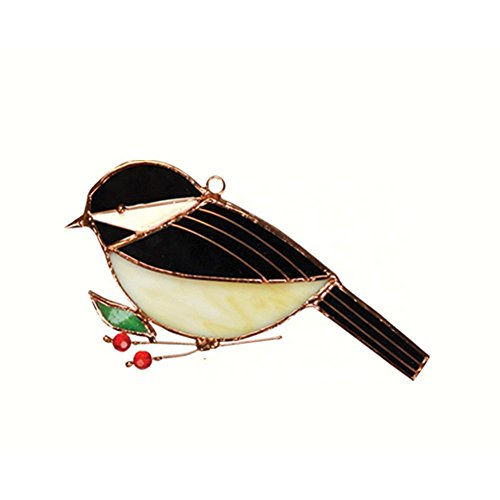 Chickadee Glass - Gift Essentials Chickadee Suncatcher