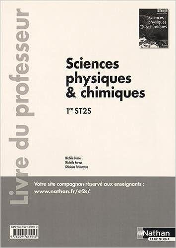 Lire un Sciences physiques et chimiques - 1re ST2S - livre du professeur pdf epub