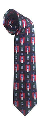Christmas Tie 100% Silk The Nutcracker Tin Soldier Drum Navy Blue Green 602