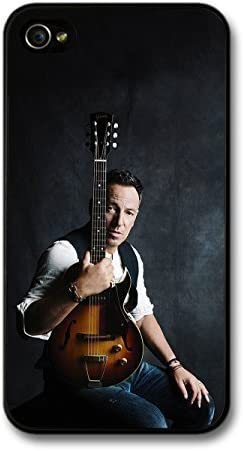 Carcasa Bruce Springsteen posando con una guitarra funda para ...