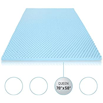 egg crate foam mattress topper. Egg Crate Gel Memory Foam Mattress Topper - Queen, Pad Provides